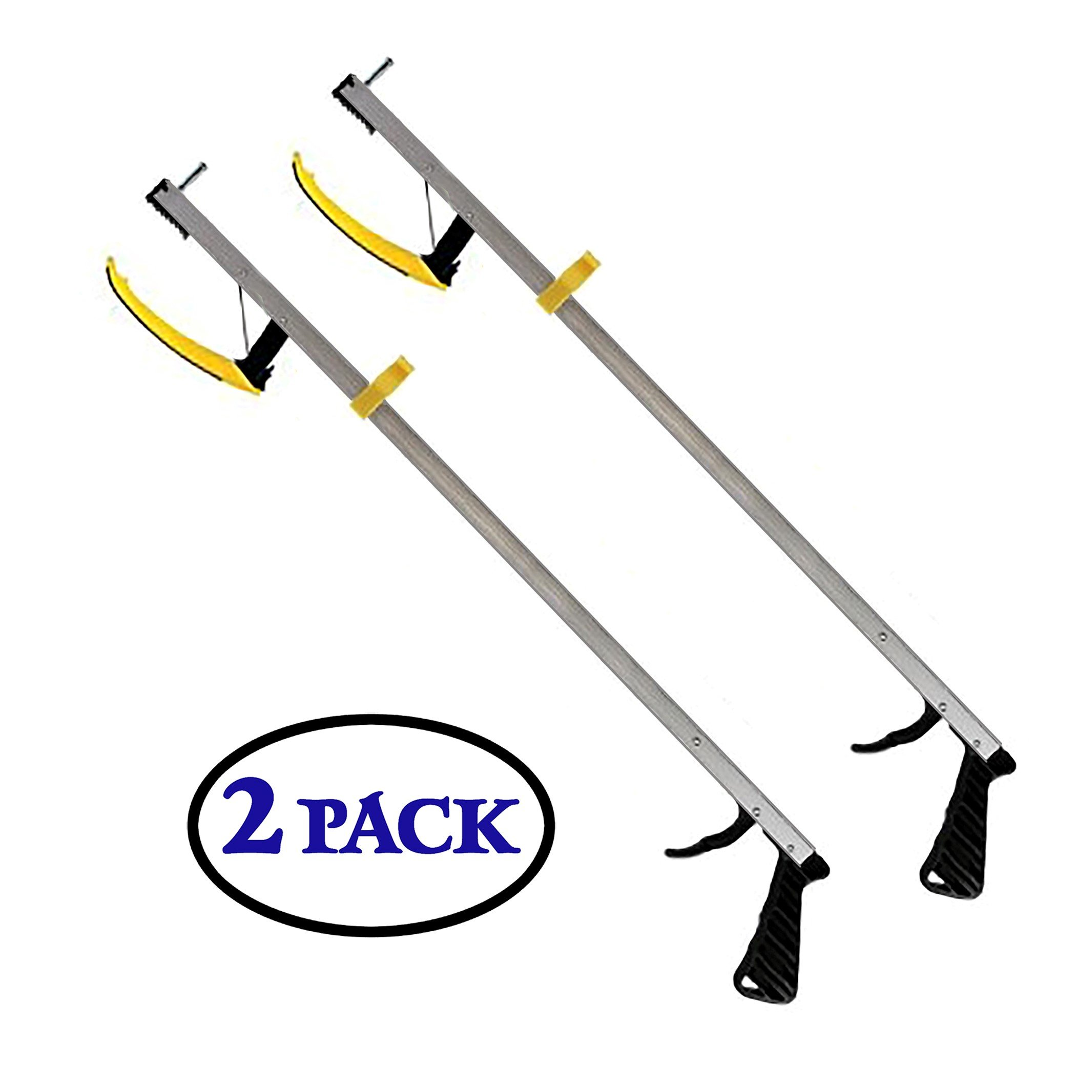 RMS 32'' Grabber Reacher 2-Pack | Magnetic Tip Helps Pick Up Small Objects | Fitted with Post to Assist with Dressing | Mobility Aid Reaching Assist Tool, Arm Extension (32-inch) by RMS Royal Medical Solutions, Inc.