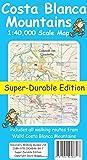 Costa Blanca Mountains Tour & Trail Super-durable Map