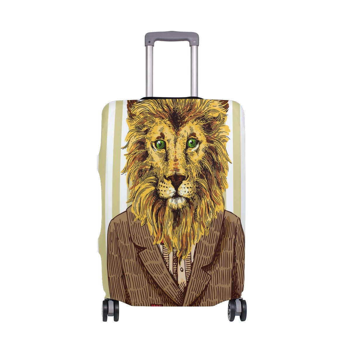 ALAZA Jacket Lion Stripe Luggage Cover Fits 30-32 Inch Suitcase Spandex Travel Protector XL