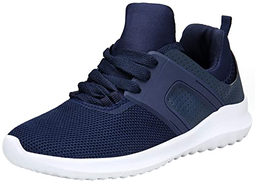 cb259a7c1ab Vedaxin Chaussures de Sport Femme Homme Baskets Mode Lacets Chaussures  Running Fitness Multisports Outdoor Sneakers
