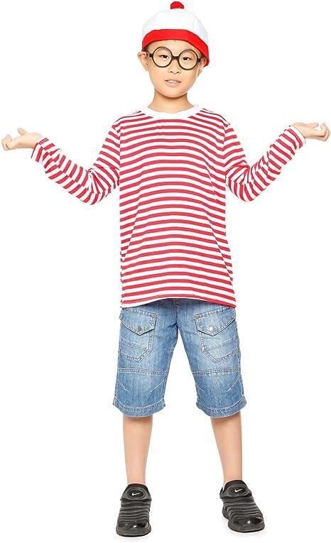 Maboobie Disfraz de Wally para Niños Camisa + Gafas + Gorro ...
