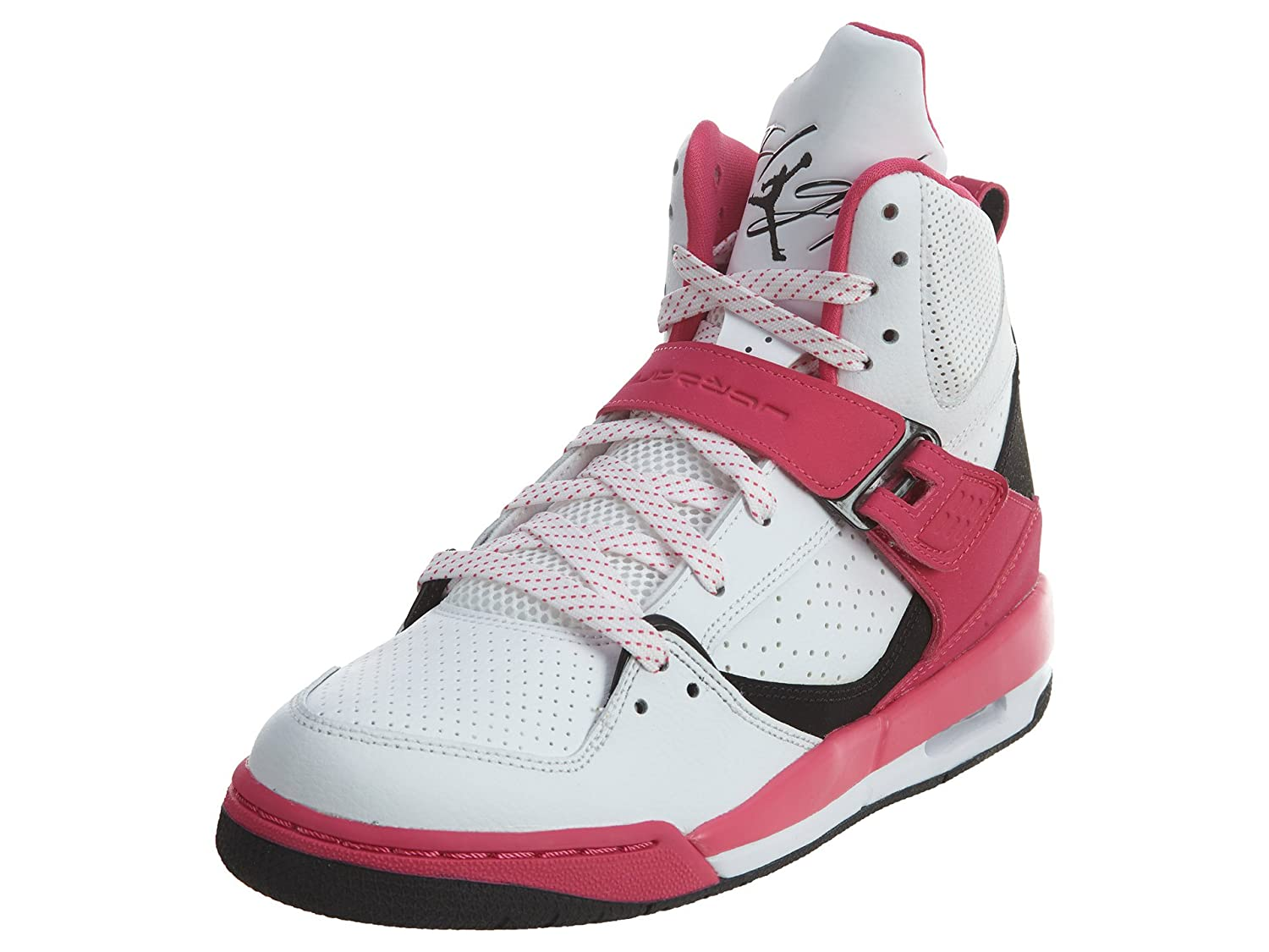 Amazon.com | Jordan Flight 45 High GG White/Black-Vivid Pink (9.5 M US Big Kid) | Golf