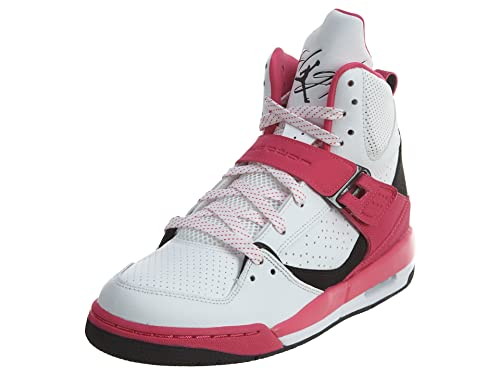 Jordan Flight 45 High GG White/Black-Vivid Pink (6y)
