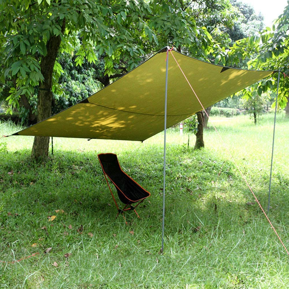 JTYX Camping Tarp Shelter Waterdichte Luifel voor Wandelen Vissen Picknic Beach Tent Tarp Camping Kussen Survival Shelter Groen2