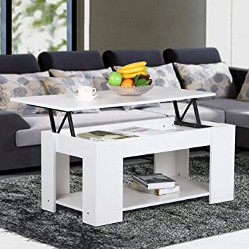 Amazon.com: Yaheetech Modern Lift-up Top Tea Coffee Table w ...