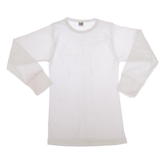 FLOSO - Camiseta básica/interior térmica de manga larga para Niños/Niñas Unisex (