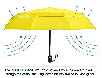 """British el paraguas """"Ben"""" paraguas a prueba de viento – Ultra fuerte doble"""