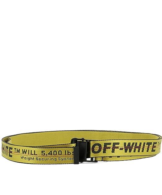 nuovi stili 9a11a 717ce OFF-WHITE Cintura Uomo OMRB012F176470196000 Tessuto Giallo ...