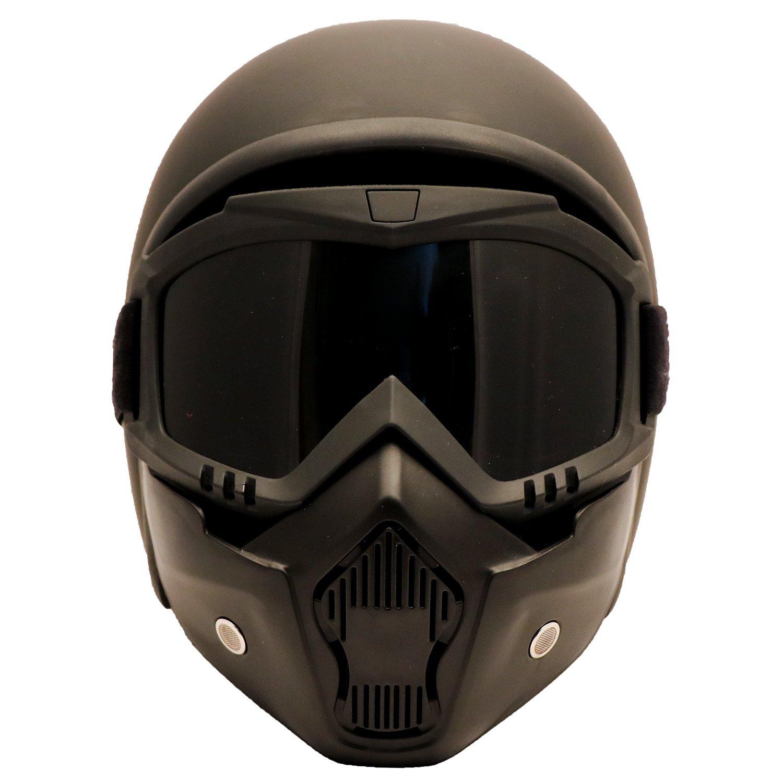 PI Wear Jet schwarz matt Evo sehr kleiner und schmaler Jethelm keine ECE XL auff/älliges Design