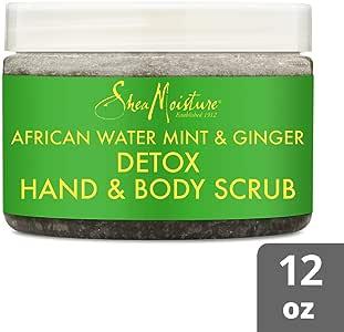 Shea Moisture African Water Mint & Ginger Detox Hand and Body Scrub, 340g