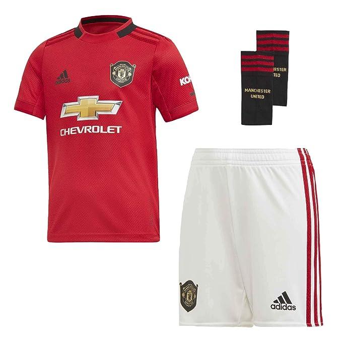 Amazon Com Manchester United 2019 20 Home Mini Kit Clothing