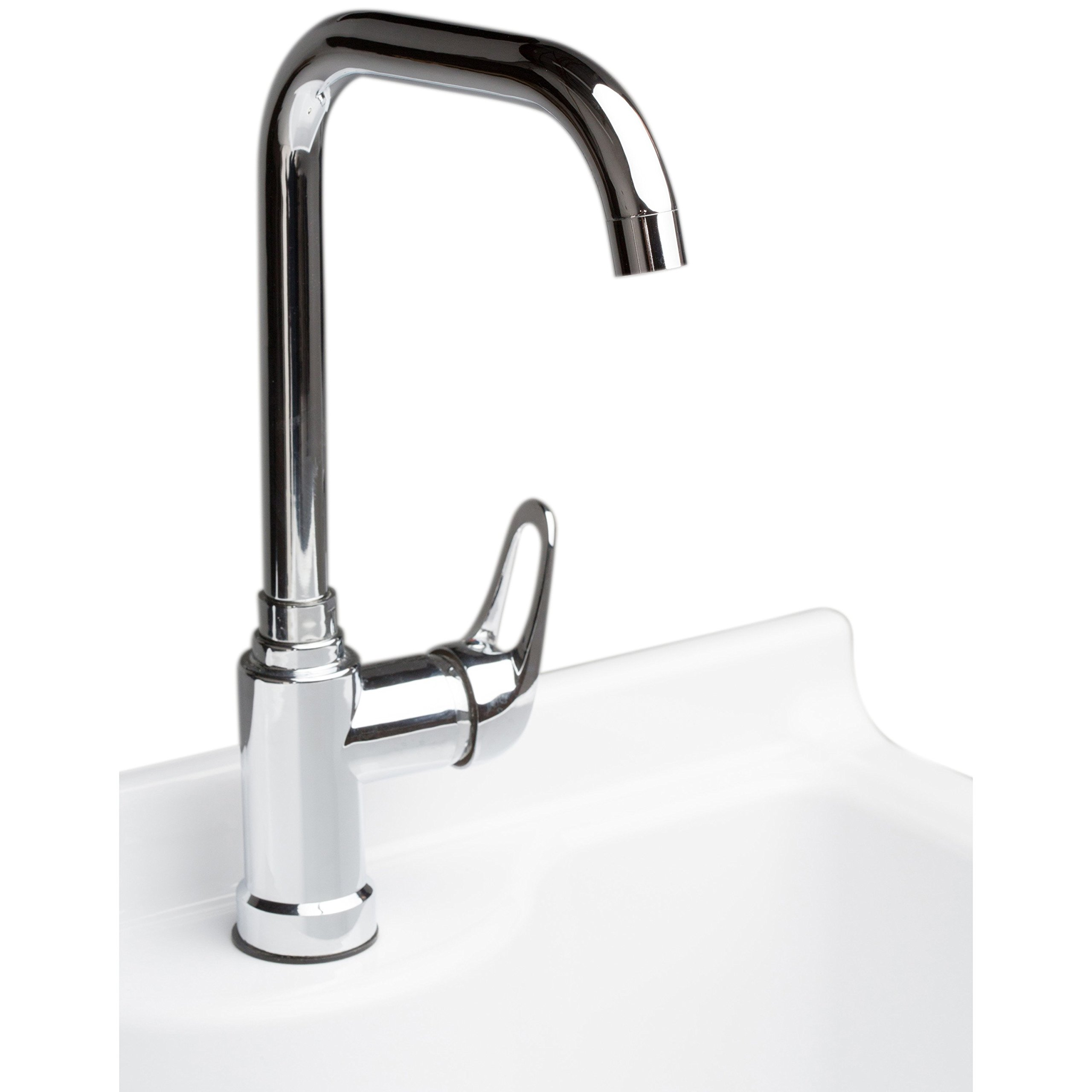 Simpli Home Murphy Laundry Cabinet with Faucet and ABS Sink, 24'', Pure White by Simpli Home (Image #4)