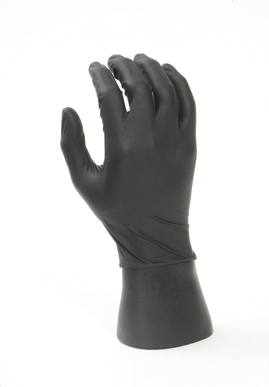 Superior Grip Powder-Free Orange EPPCO TigerGrip 8-Mil Nitrile Gloves Medium Box of 100 Latex-Free