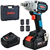 ENEACRO 20V Cordless Impact Wrench Brushless Motor 300 Ft-lb Max Torque,4.0 AH Battery with Fast Charger,3 Speed Switch…