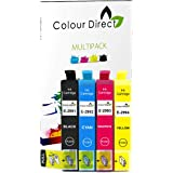 Colour Direct -1 Set Compatible Ink Cartridges - 29XL Replacement For Epson Expression Home XP-235 XP-245 XP-247 XP-332 XP-335 XP-342 XP-345 XP-432 XP-435 XP-442 XP-445 Printers. 1 X 2991 1 X2992 1 X 2993 1 X 2994