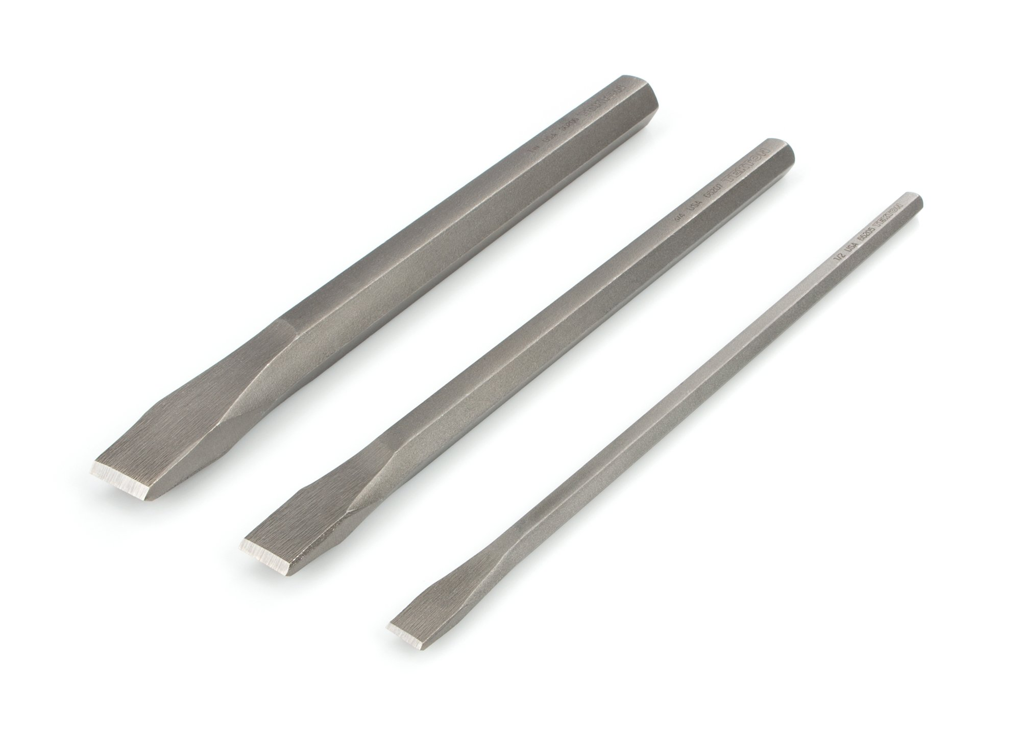 TEKTON Long Cold Chisel Set, 3-Piece (1/2, 3/4, 1 in.)   66506