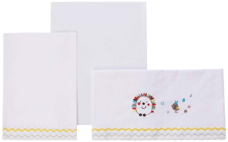 Pirulos 00113501 - Sábanas, diseño espin, 50 x 80 cm, color blanco Coimasa