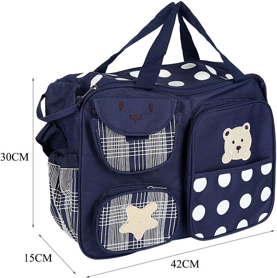 Multi-functional Baby Diaper Nappy Handbag Mummy Changing Bags Navy