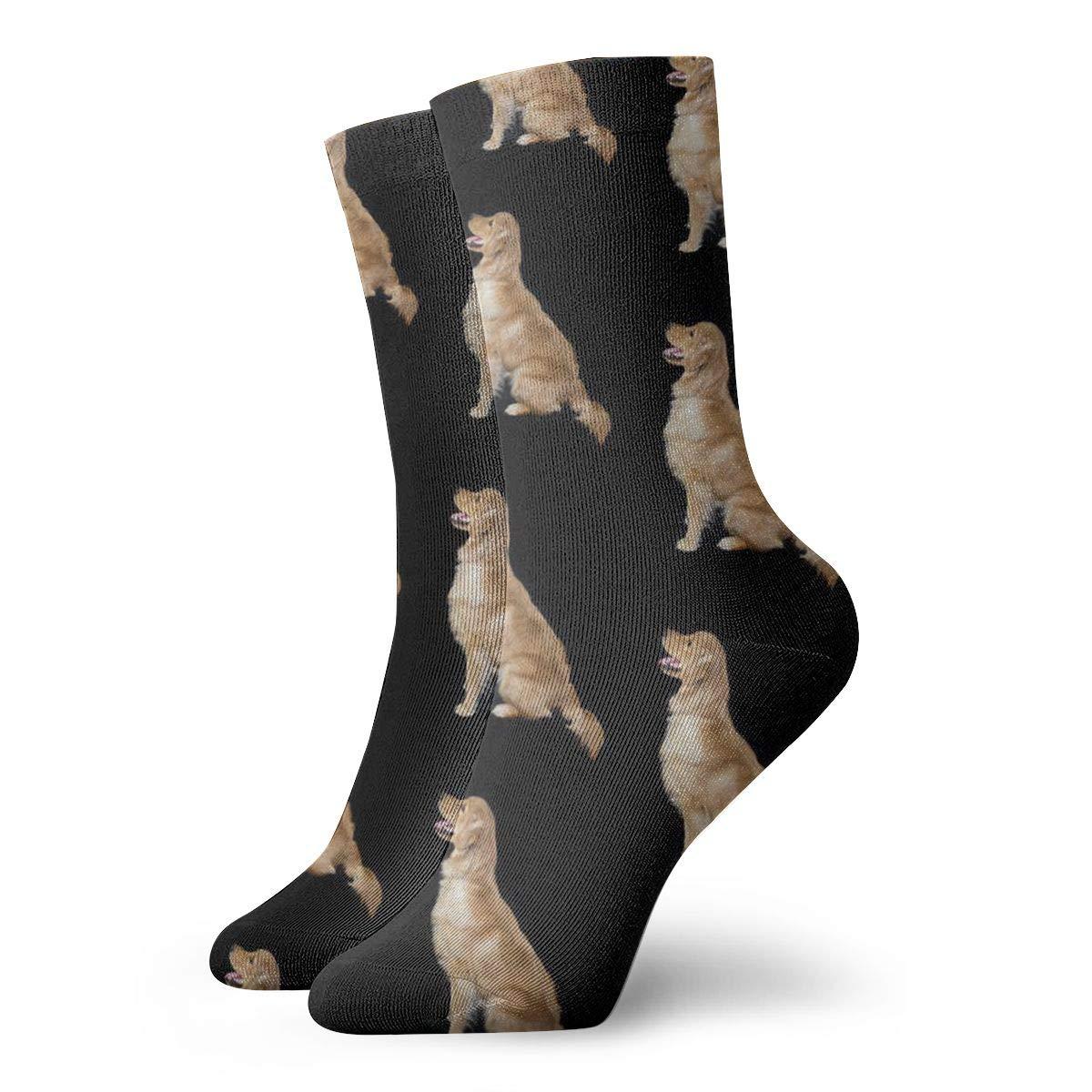 Golden Retriever Unisex Funny Casual Crew Socks Athletic Socks For Boys Girls Kids Teenagers