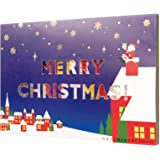 ナノブロック クリスマスカード 2018 サンタとちいさいお家 Gift NP091