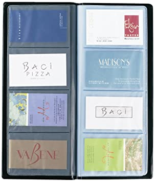 Rapesco Ba0080b1 Business Card Album 40 Pocket 80 Card Capacity