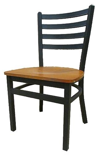 Oak Street Manufacturing SL3160-C Metal Frame XL Ladderback Dining Chair
