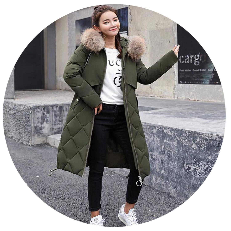 NanGate Women Winter Down Jackets Warm Long Slim Coat and Jacket Female Big Swing