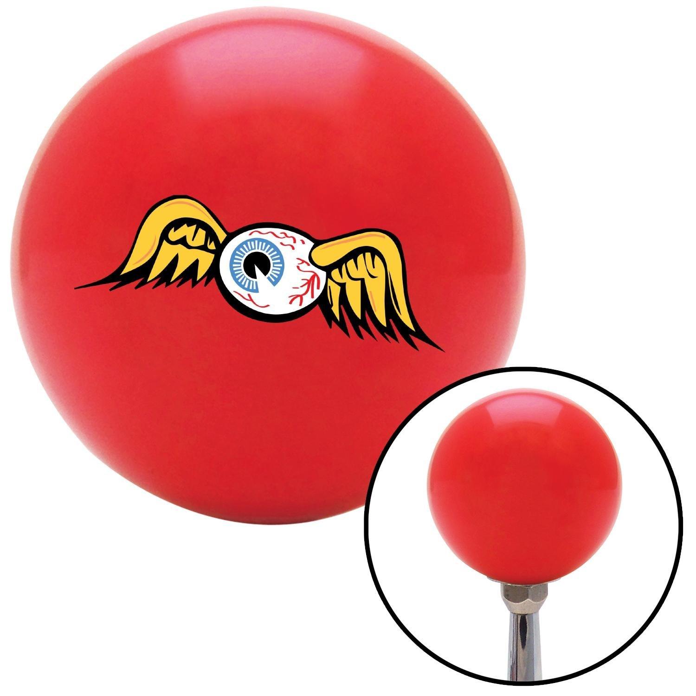 American Shifter 168524 Red Flying Eyeball Shift Knob with M16 x 1.5 Insert