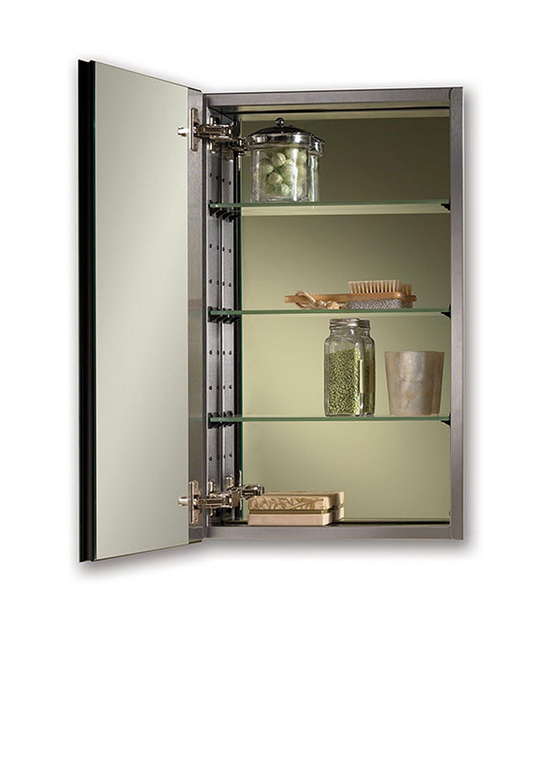 Jensen S468244SSX Bevel Mirror Medicine Cabinet, 15'' x 25''
