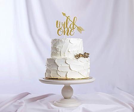 Decoración para tarta Wild One con purpurina para decoración ...