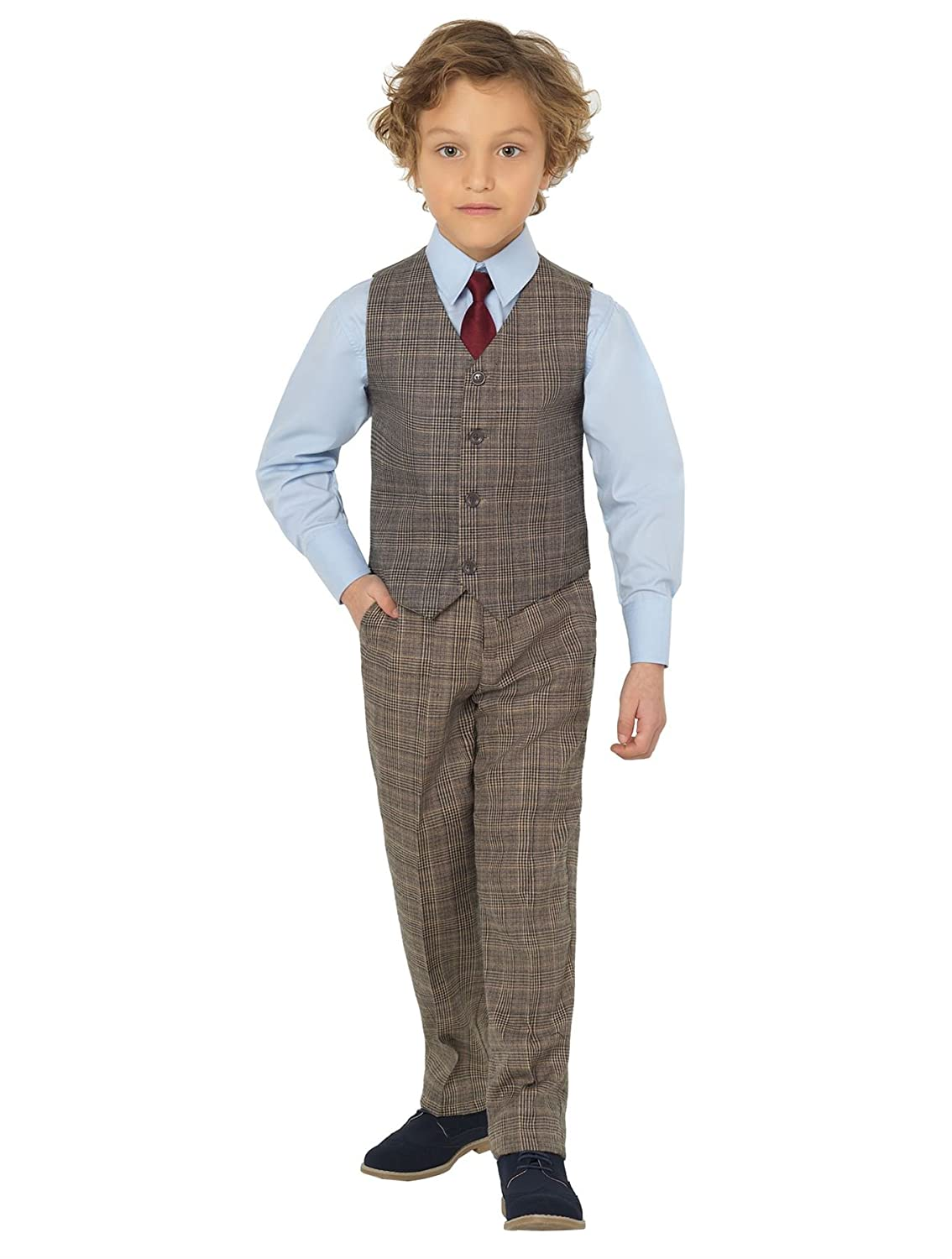 1930s Childrens Fashion: Girls, Boys, Toddler, Baby Costumes Shiny Penny Boys Suits Page boy Suits Waistcoat Suits 3 Months - 8 Years £24.99 AT vintagedancer.com