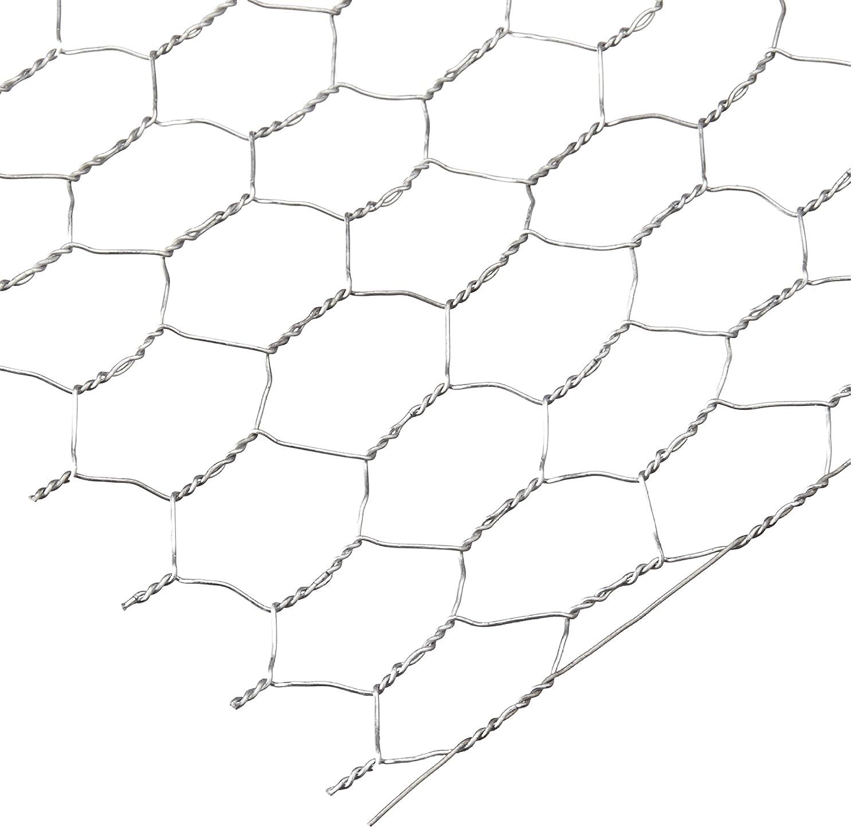 Amazon.com: Darice 6614-100 Galvanized Chicken Wire Net for ...