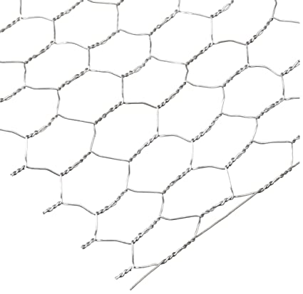 Amazon.com: Darice 6614-100 Galvanized Chicken Wire Net for ...