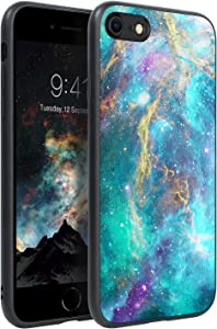 BENTOBEN iPhone SE Phone Case 2020, iPhone 8 Case,iPhone 7 Case,Slim Fit Glow in The Dark Shockproof Drop Protective Hybrid Hard PC Soft TPU Bumper Girls Women Cover for iPhone SE / 8/7,Space/Nebula