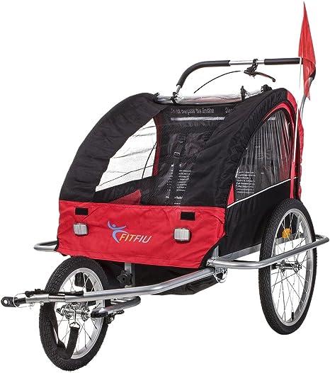 Fitfiu - BITRR Remolque de bicicleta convertible en carrito de ...
