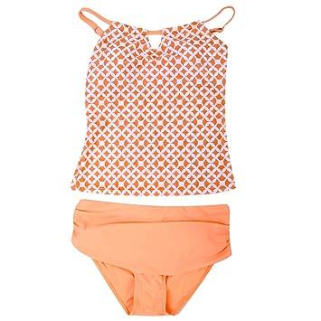 8d4214f971e5f Dilwe Tankini Two Piece Swimsuit Women Female Swimwear Swimsuit Beach  Bathing Suit(M)