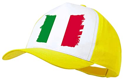MERCHANDMANIA Gorra Amarilla Bandera DE Italia Color Cap: Amazon ...