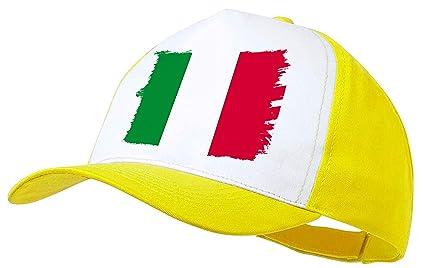 MERCHANDMANIA Gorra Amarilla Bandera DE Italia Color Cap: Amazon ...