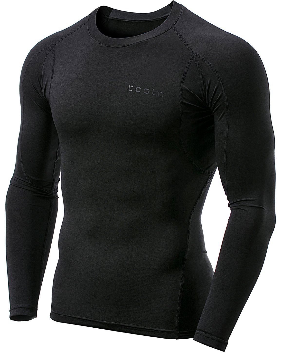 TSLA Men's Long Sleeve T-Shirt Baselayer Cool Dry Compression Top
