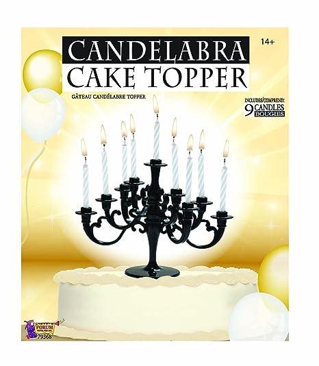 Faerynicethings Black Candelabra Cake Topper