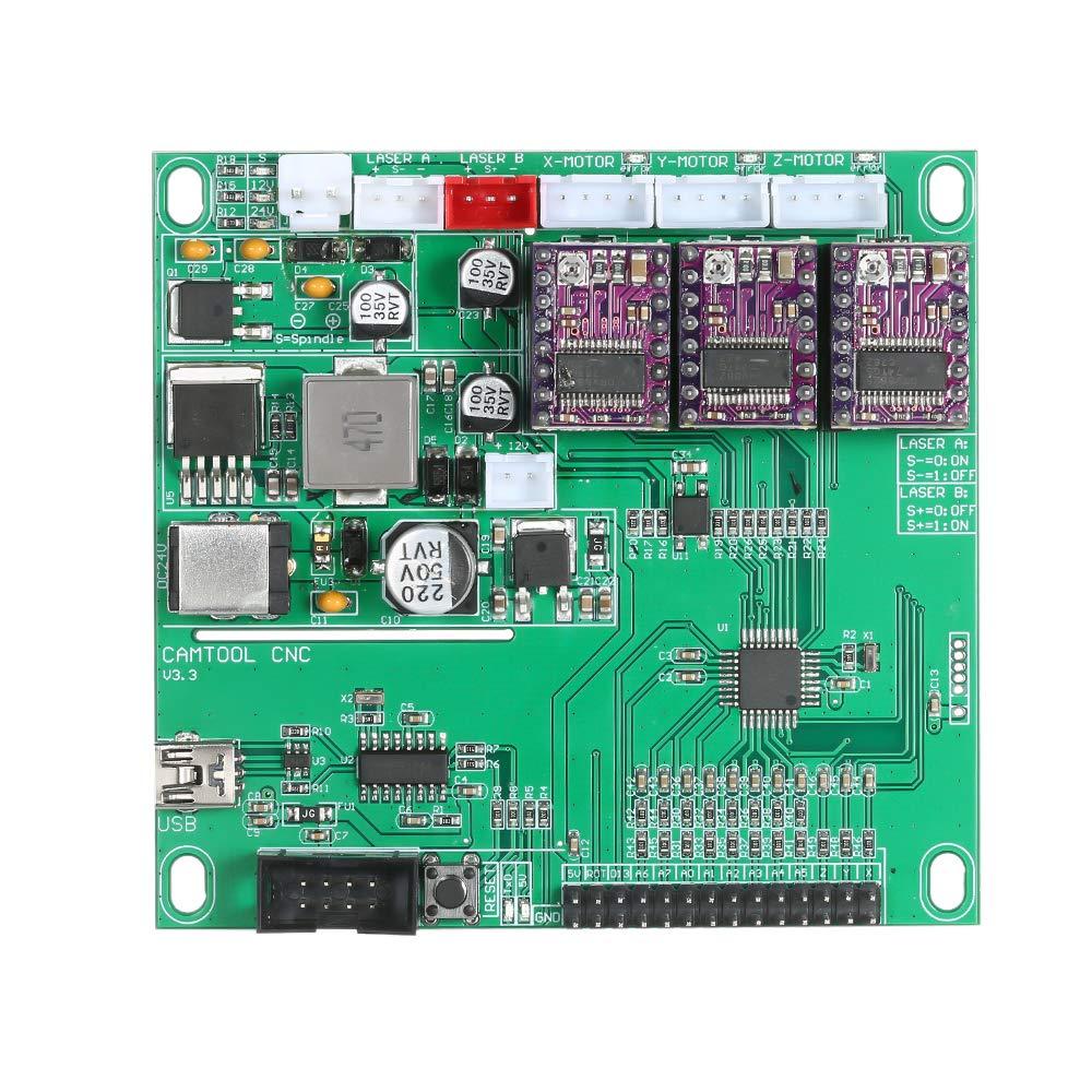 de 3 ejes GRBL Panel de control de la m/áquina de grabado GRBL KKmoon Tablero de control CNC