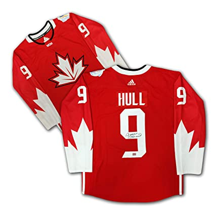 17ab6ffe6 Bobby Hull Autographed Red Team Canada Jersey at Amazon's Sports  Collectibles Store