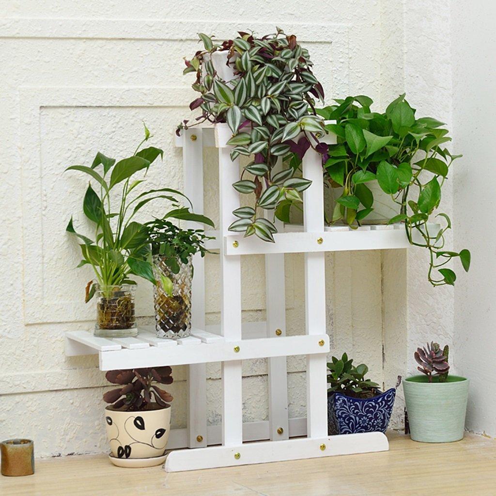 Multilayer Fold Wohnzimmer Balkon Massivholz Blumenregal Pflanze Regale Eingemachte Regale Put Dinge Lagerung Rack ( farbe : C )