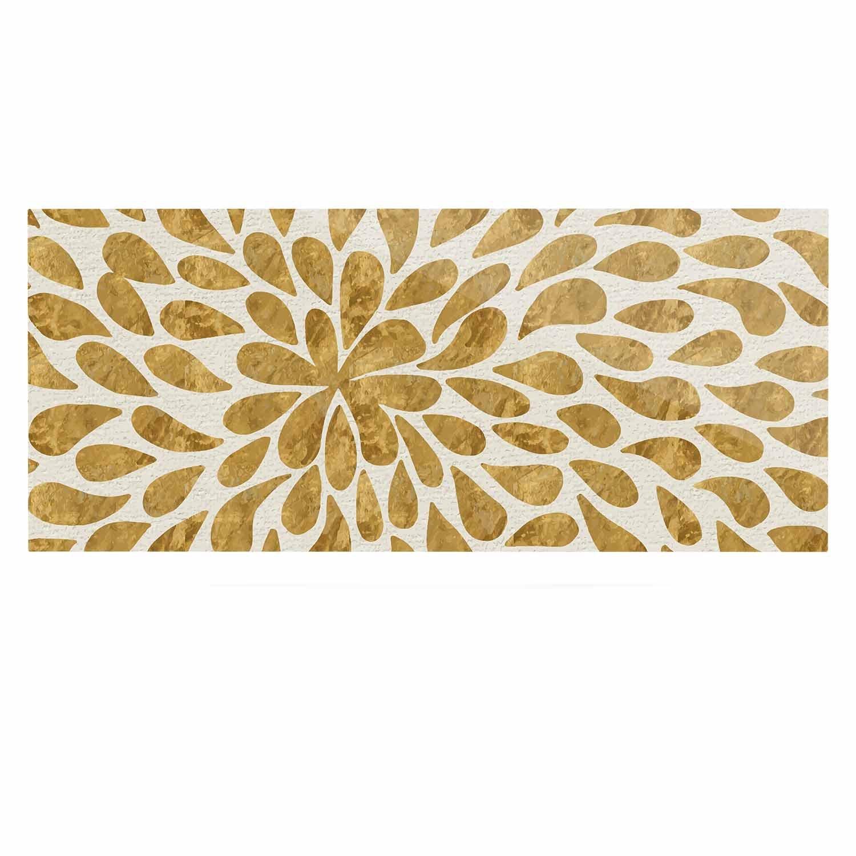 24 x 36 Kess InHouse 888 Design Abstract Golden Flower Gold Tan Luxe Rectangle Panel