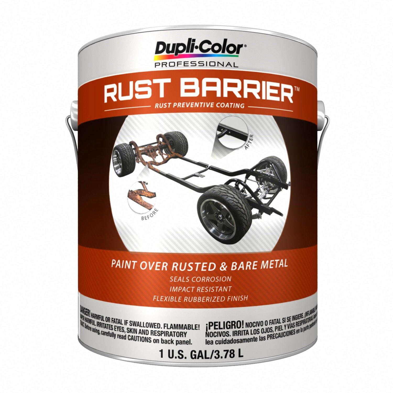 Dupli-Color ERBG10000 Barrier Rust Preventive Coating, Black, Flat, 1 Gallon, 128. Fluid_Ounces by Dupli-Color