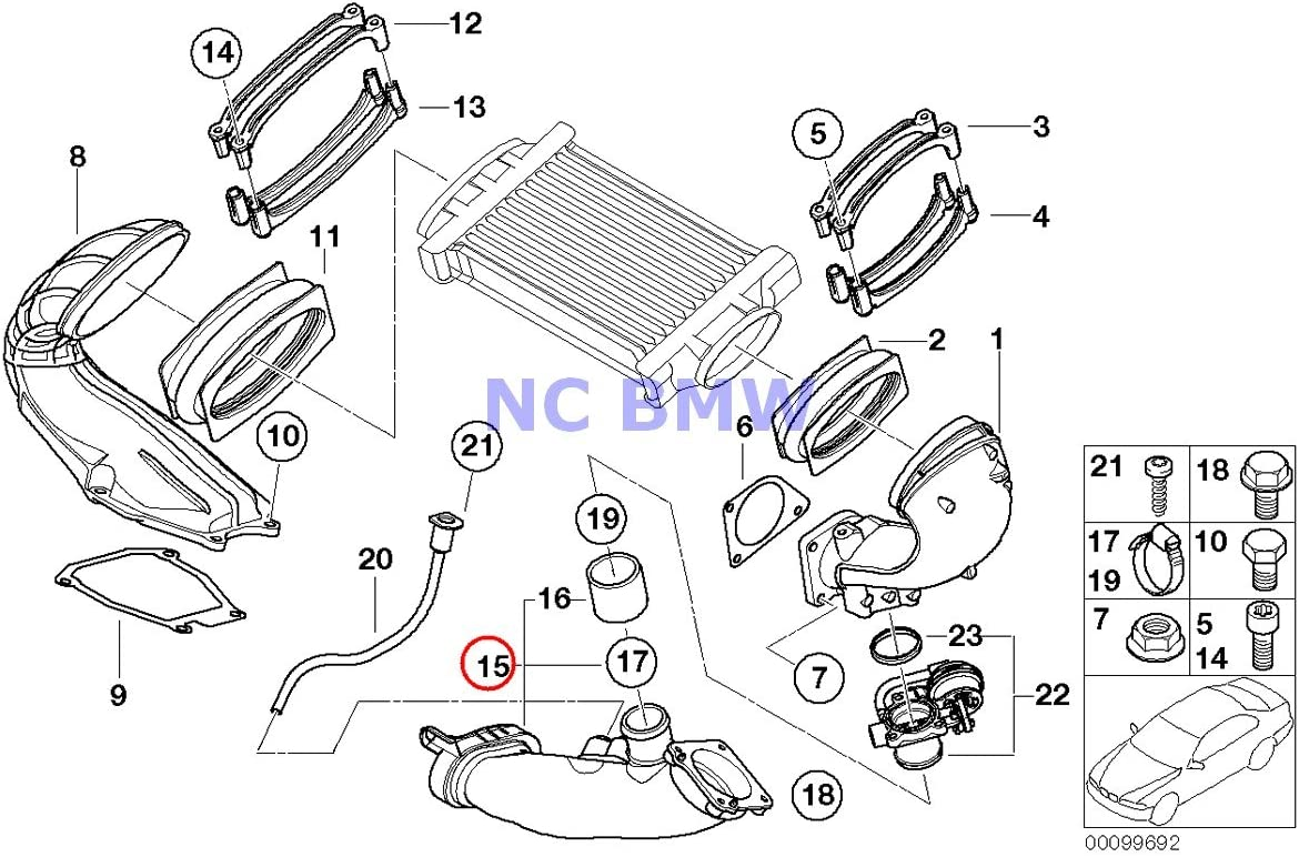 Throttle Housing to Supercharger Cooper S Coop.S JCW GP Cooper S BMW Mini Genuine Air Intake Duct