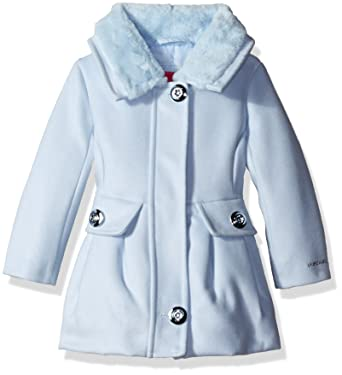 b63f18d922bf0 Amazon.com  London Fog Baby Girls  Faux Wool Coat with Fur Collar ...