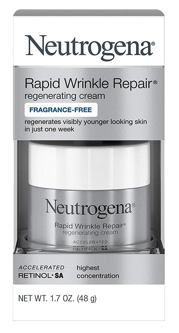Neutrogena Rapid Wrinkle Repair Cream 1.7 Ounce Fragrance-Free (50ml) (3 Pack)