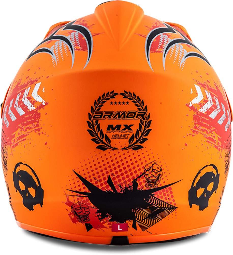 "Armor /· AKC-49 /""Red/"" 53-54cm red /· Kids-Cross Helmet /· Child Off-Road Enduro Moto-Cross-Helmet MX Motorcycle /· DOT certified /· Click-n-Secure/™ Clip /· Carrier Bag /· S"