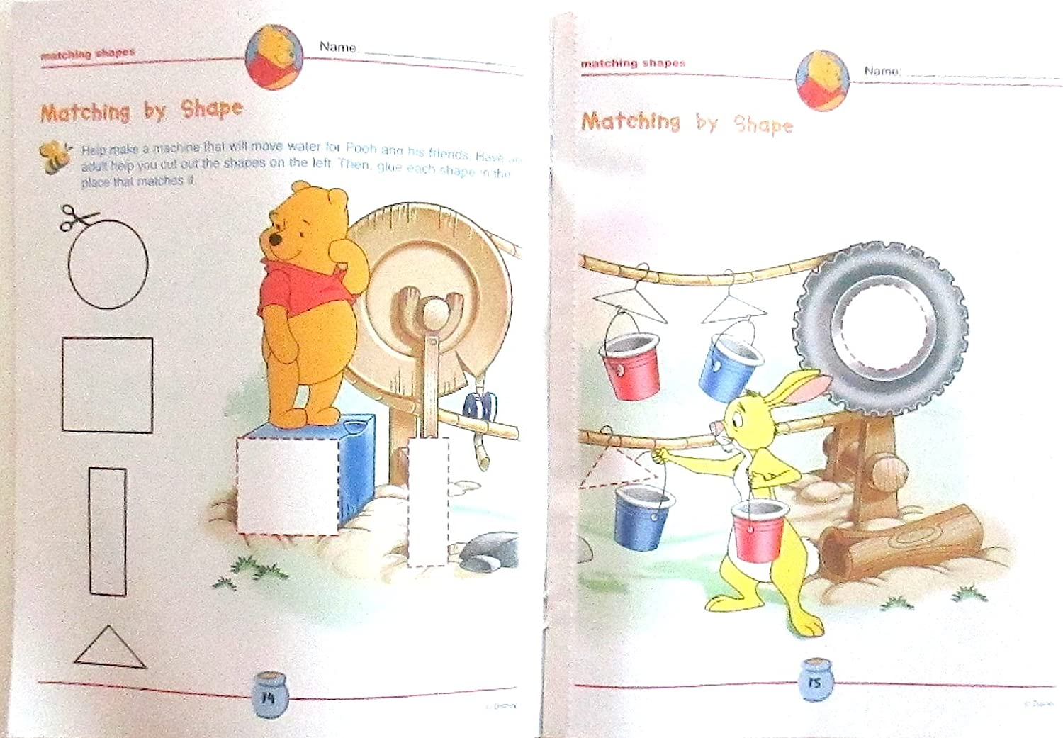Imagine Publications Disney I Can Learn with Pooh Shapes and Sizes Workbook Colouring Book